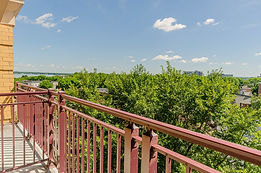 Private Balcony View with Lake Mendota (