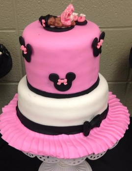 Minnie Mouse - Baby Shower Cake
