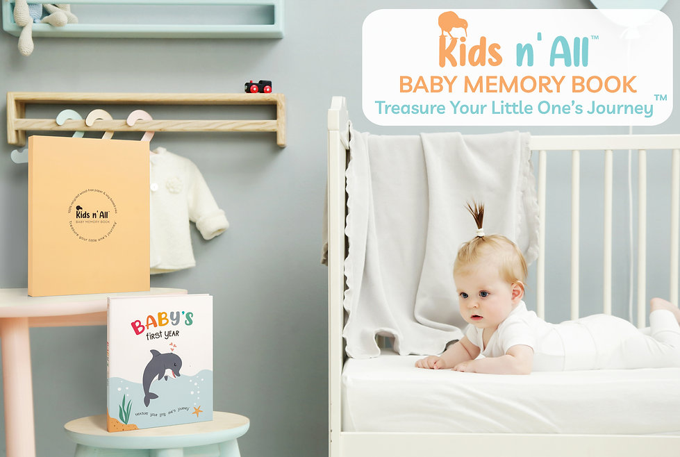 Kids N' All Modern Eco Friendly Baby Memory Book - Made from FSC Certified 100% Recycled Paper and Natural Soy Based Inks