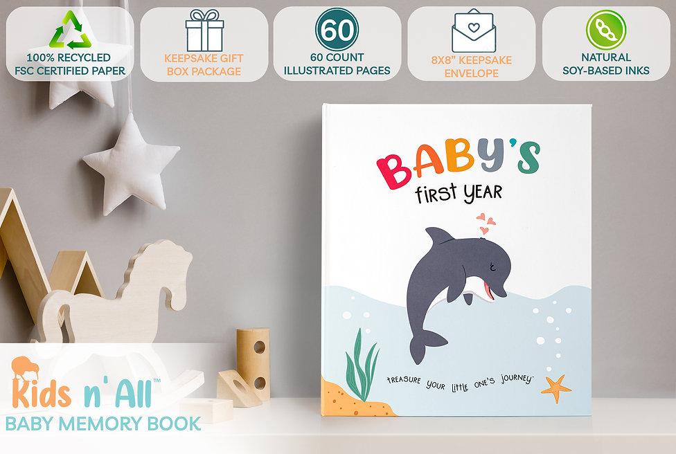 Kids N' All Modern Eco Friendly Baby Memory Book