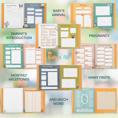 Kids N' All Modern Eco-Friendly Baby Memory Book