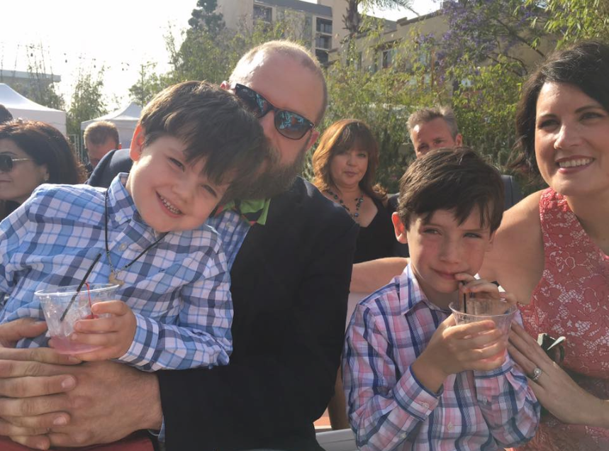 Efforts for a family photo, kiddie-cocktails and all