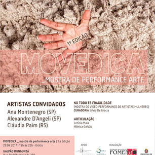NO TODO ES FRAGILIDAD @ MOVEDIÇA _ Mostra de Performance Arte,  São Paulo, Brasil