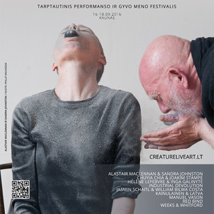 CREATurE Live Art 2016 : Performance and Live Art Festival, Lithuania