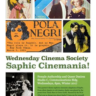 Wednesday Cinema Society 'Saphic Cinemania ! Female Authorship and Queer Desires'