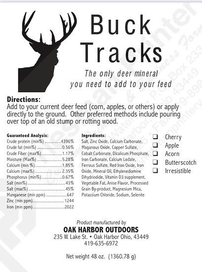 Buck tracks flavored