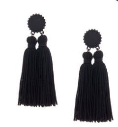 Double Tassel Drop Earrings
