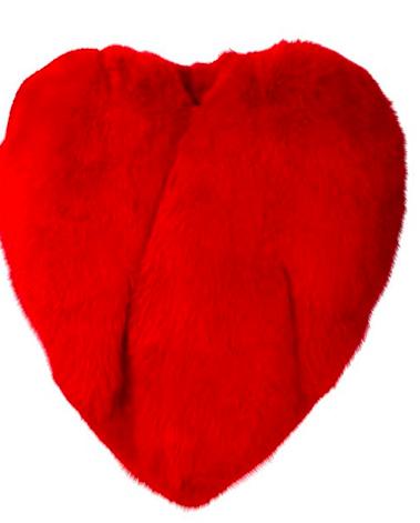 Heart Shape Fur Cape