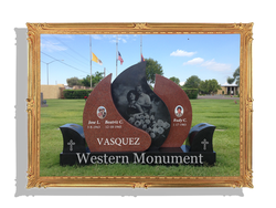 Custom Monument, Queen of Heaven Catholic Cemetery, Mesa, AZ