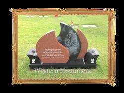 Custom Monument back side, Queen of Heaven Catholic Cemetery, Mesa, AZ