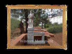 Bench with sculpture, Sedona, AZ