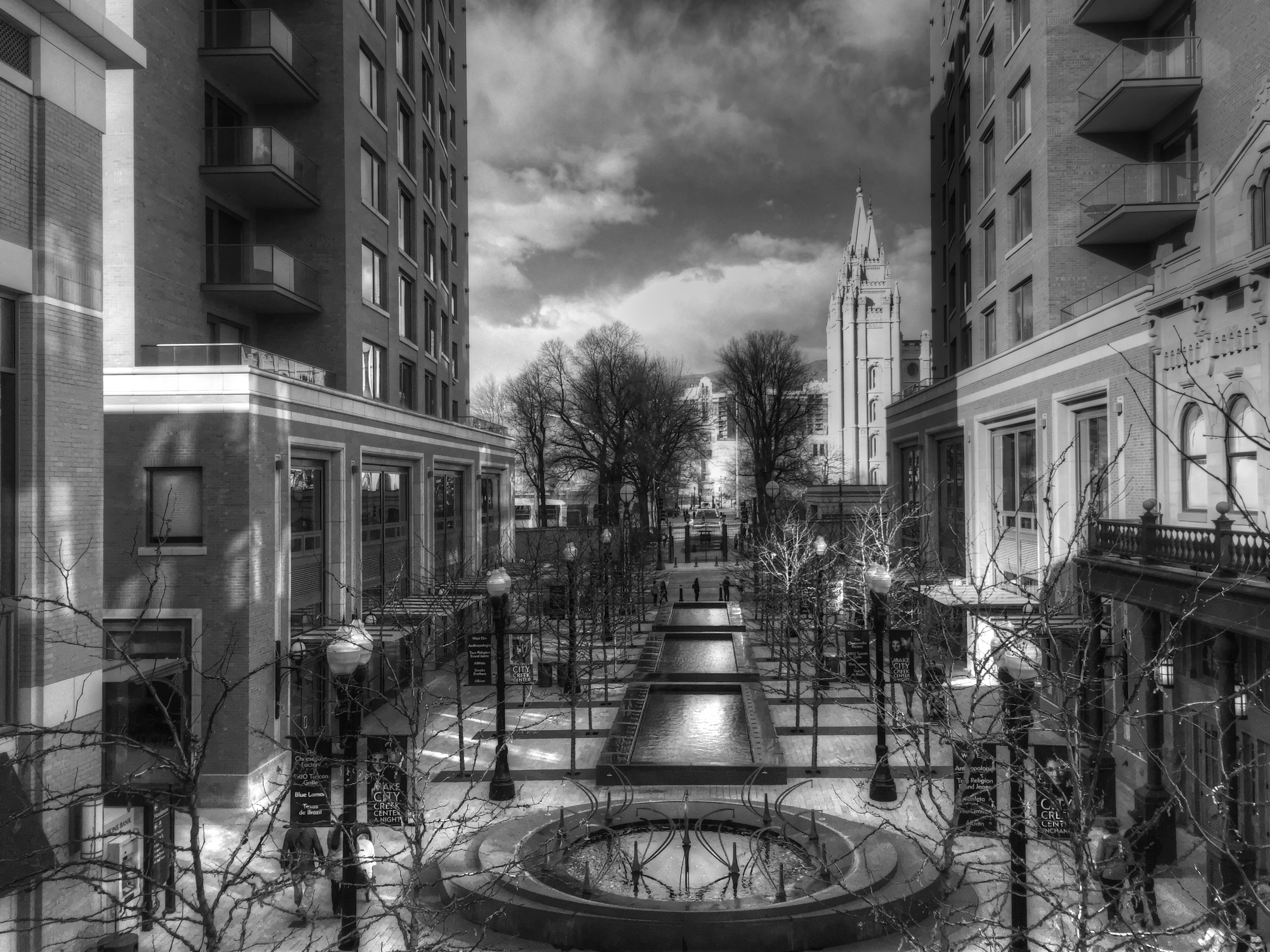 City Creek B&W