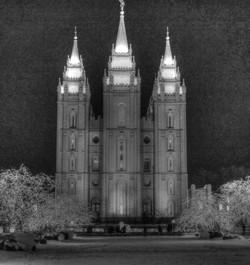 SLC Temple B&W
