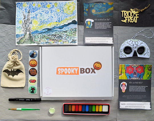 Creativity Art Workhops Halloween BOX for kids
