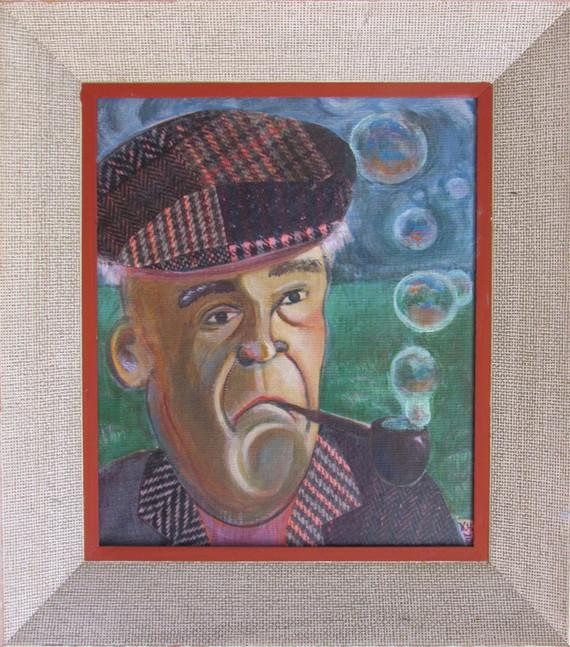 Professor Piggot 17-1/2 X 15-1/2 acrylic