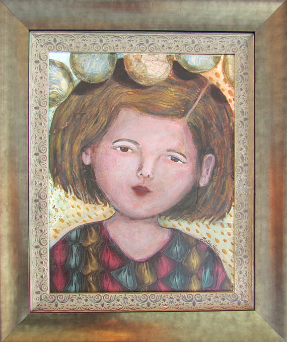 "Sarah Anne Dippity 27"" X 22-1/2"" acrylic and mixed media"
