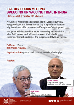 ISRC_Speeding up vaccine trial in India.
