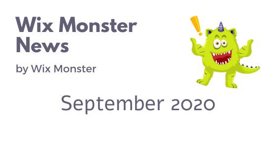 מה חדש בוויקס ספטמבר 2020