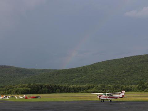 Faint rainbow over Wurtsboro