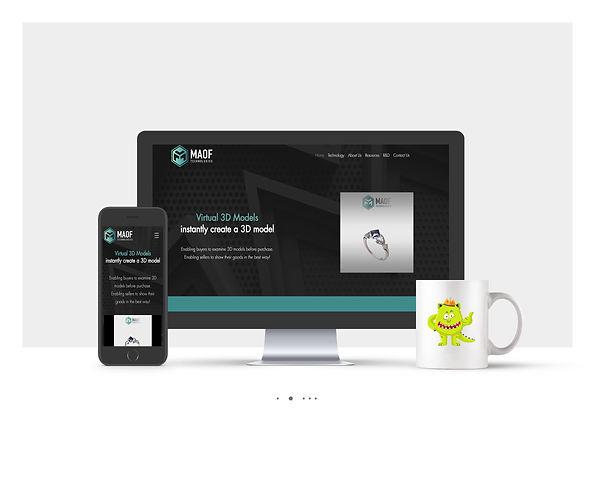 אתר Wix תדמיתי לחברת טכנולוגיה MAOF Technologies