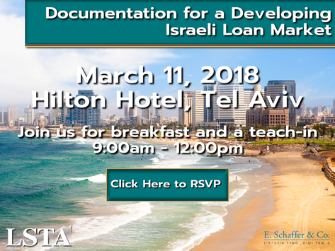 The Loan Syndication & TradingAssociation (LSTA) and E.Schaffer & Co. to host a breakfast e