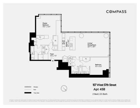 157 W 57th Street, Unit 45B New York, NY 10019
