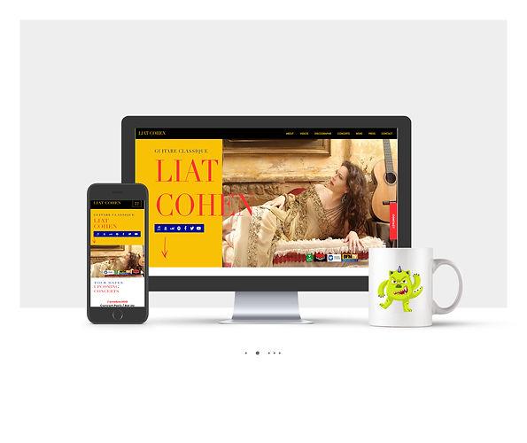 אתר וויקס תדמיתי עבור ליאת כהן