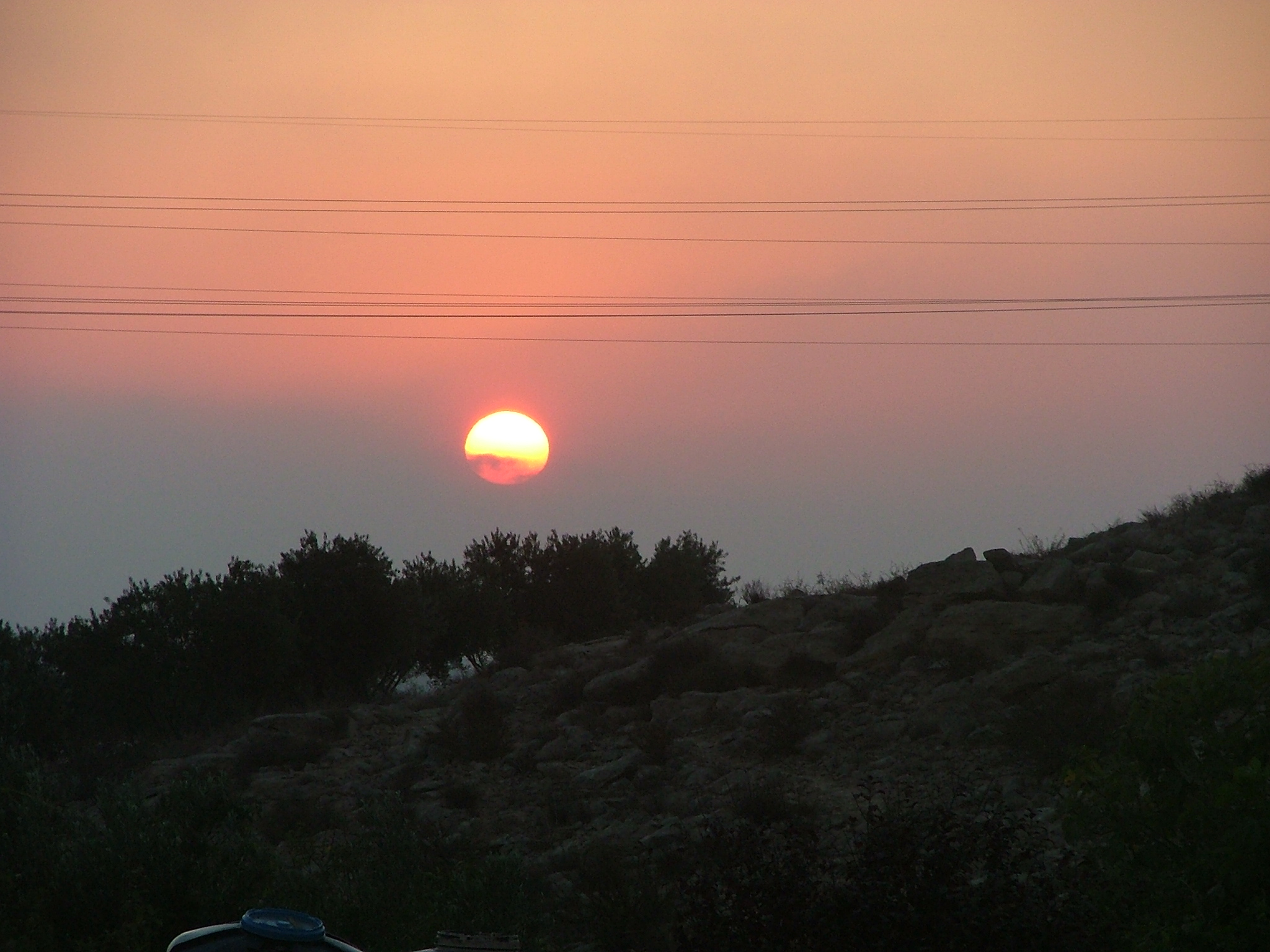 Sunrise at Carmey Avdat Desert Estat