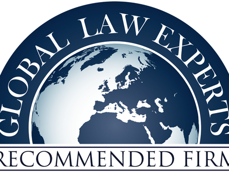 We proudly announce that Global Law Experts has elected our firm as its Banking & Finance Legal