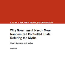 Why Government Needs More Randomized Controlled Trials