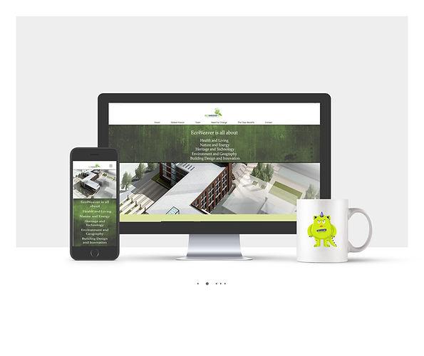 אתר Wix תדמיתי עבור Eco-Weaver