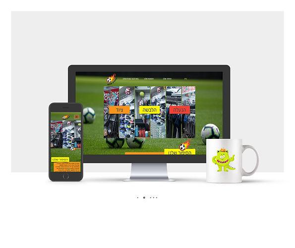 אתר Wix תדמיתי  עבור ספורט שמש