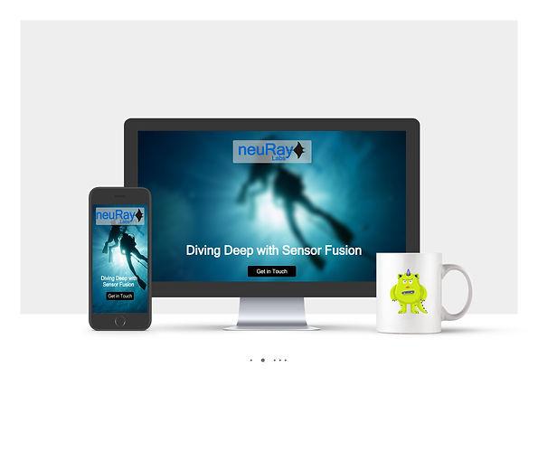 אתר Wix תדמיתי לחברת טכנולוגיה NeuRay Lab