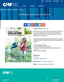 The Step-by-Step Guide to Evaluation