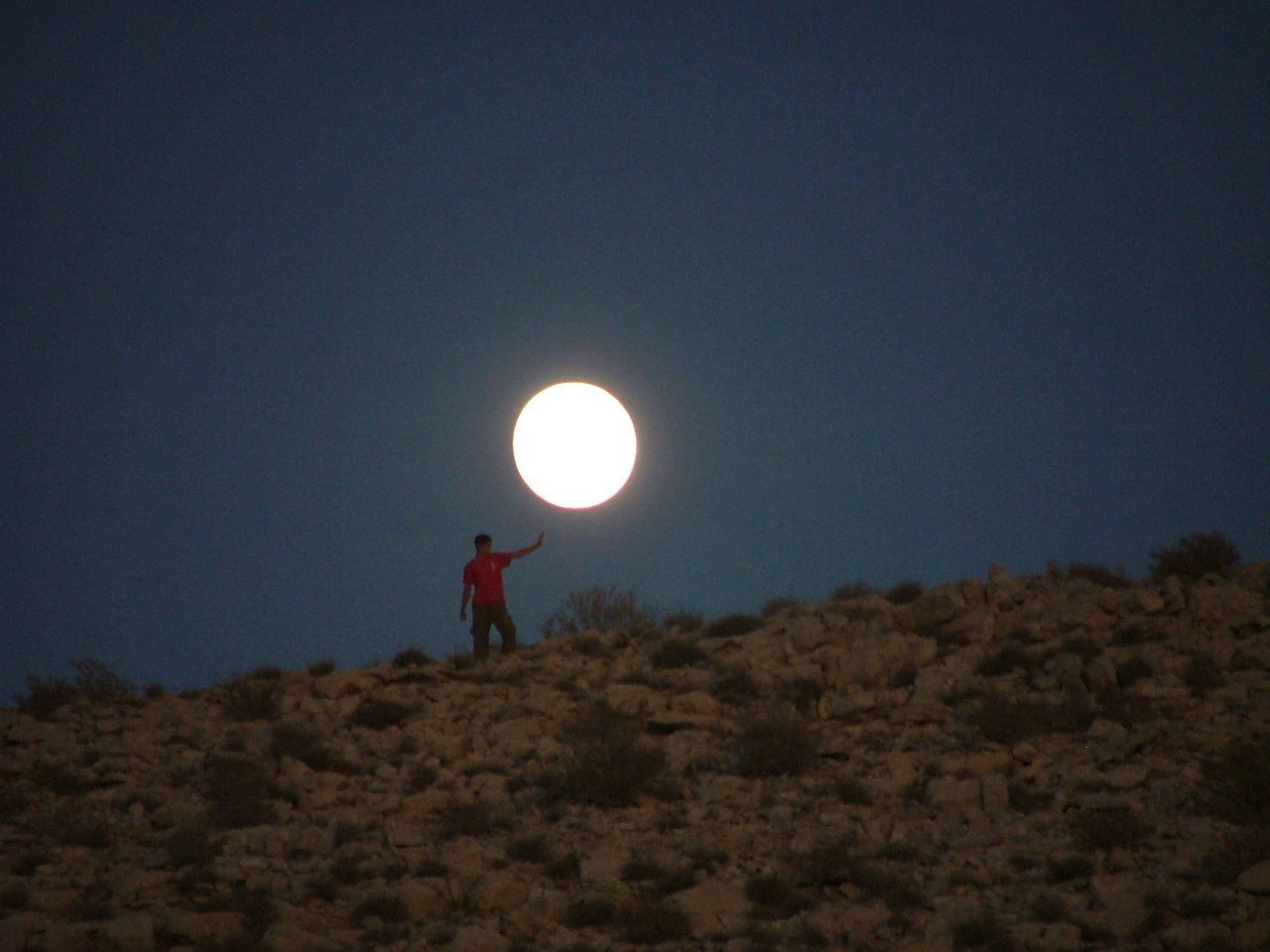 Moon at Carmey Avdat Desert Estat