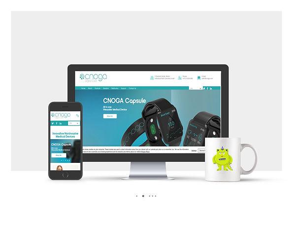 אתר Wix תדמיתי לחברת טכנולוגיה Cnoga Care