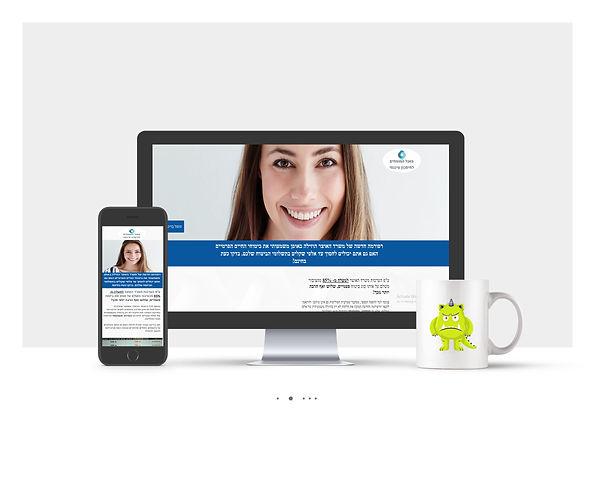 אתר Wix תדמיתי עבור חברת שירותים פיננסיים