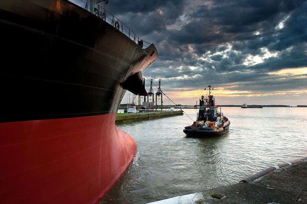 Tug Boat Towing Ship