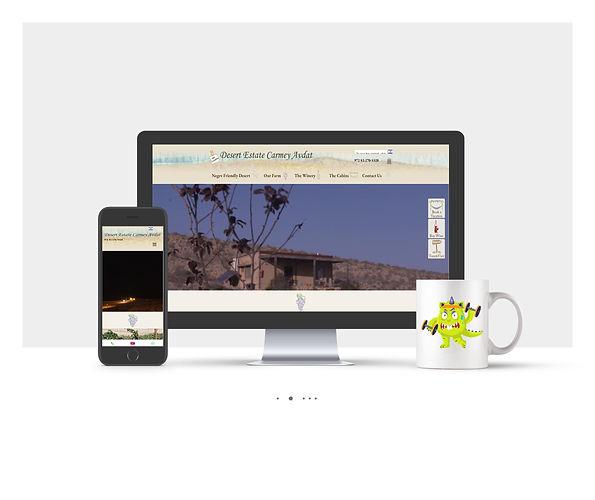אתר Wix עבור חוות בודדים כרמי עבדת