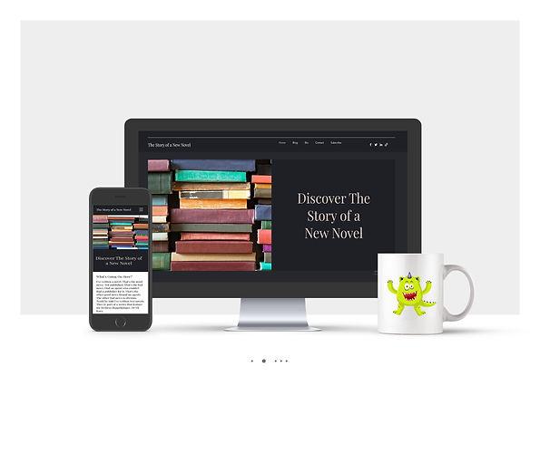 אתר Wix תדמיתי עבור סופר ומרצה לספרות