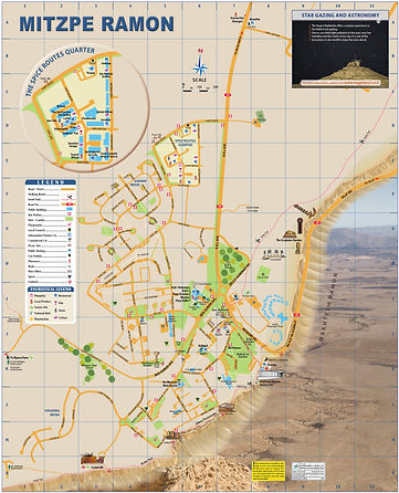 Map of Mitzpe Ramon