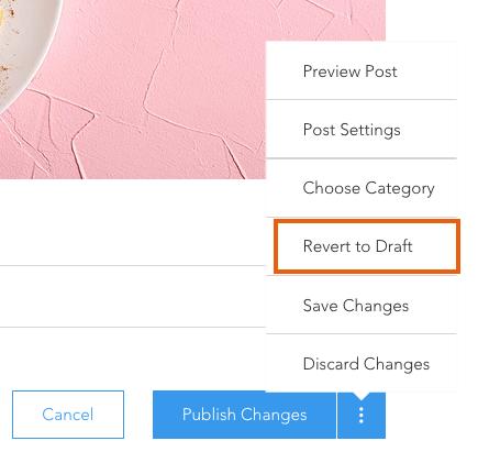 איך אפשר לבטל פרסום פוסט בבלוג של וויקס?