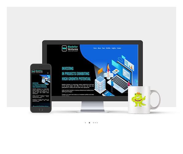 אתר Wix תדמיתי עבור Madefor Ventures