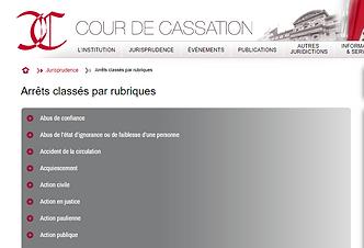 Jurisprudence Cour de Cassation