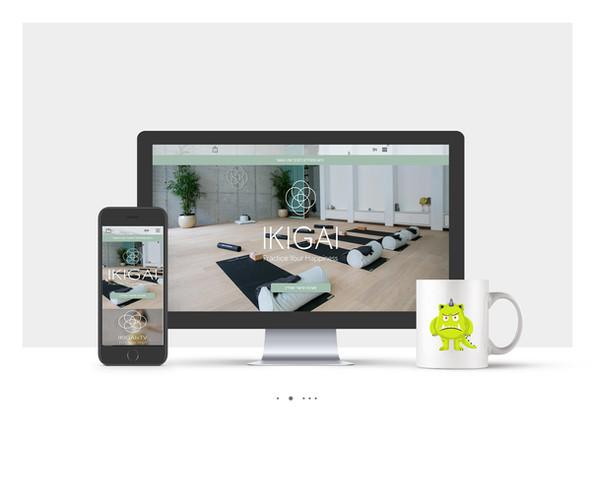 בניית אתר וויקס לסטודיו ליוגה