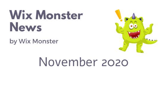 מה חדש בוויקס נובמבר 2020