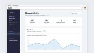 סטטיסטיקות בבלוג של וויקס