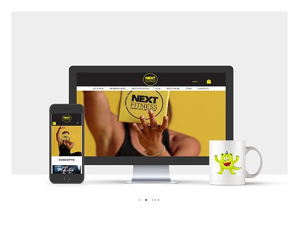 אתר Wix תדמיתי עבור NEXT Fitness