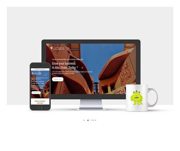 אתר Wix לאירוע השקה Invest in Abu Dhabi