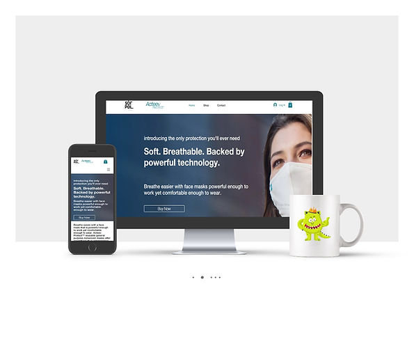 אתר חנות Wix עבור Acteev Protect